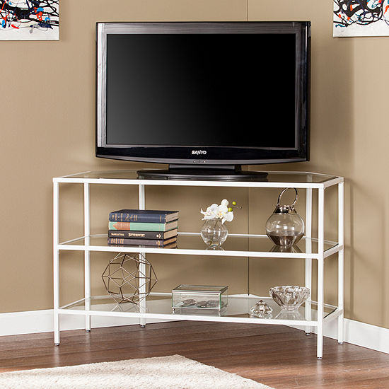 Kiah Metal and Glass TV Stand