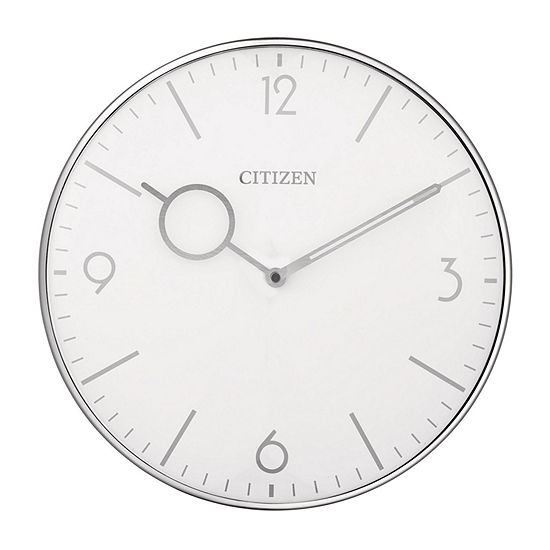Citizen Silver Tone Wall Clock-Cc2038