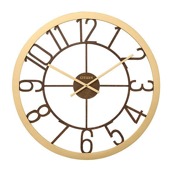 Citizen Bronze Tone Wall Clock-Cc2041