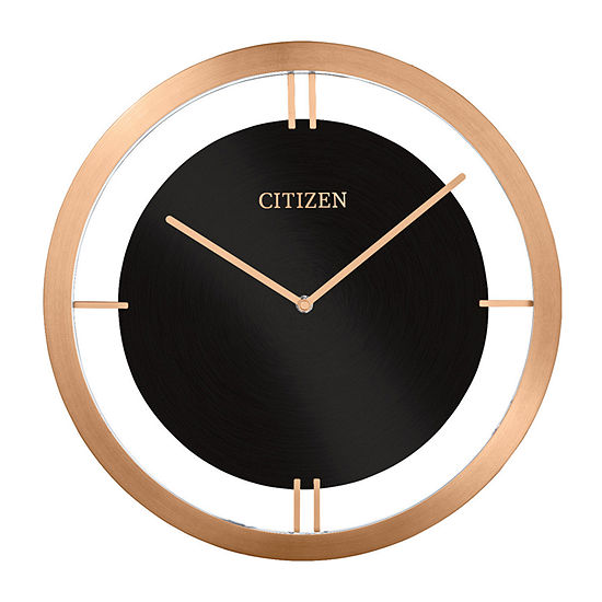Citizen Black Wall Clock-Cc2043