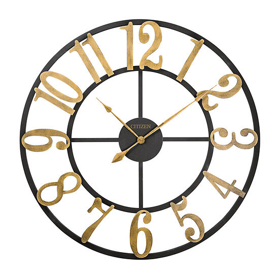 Citizen Black Wall Clock Cc2044