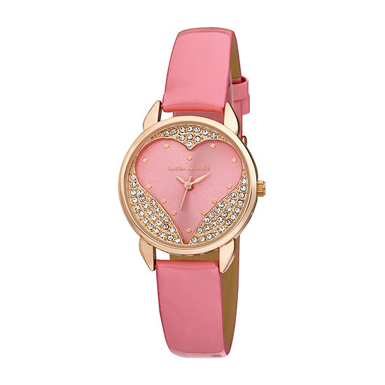 Laura Ashley Womens Pink Strap Watch-La31082pk