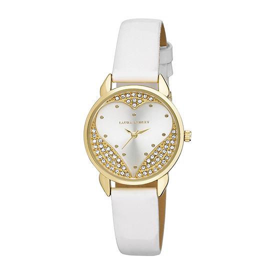 Laura Ashley Womens White Strap Watch-La31082wt