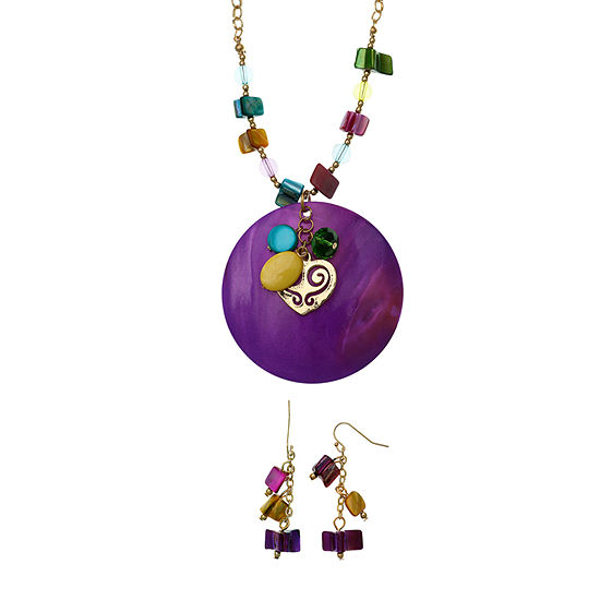 Mixit Boxed Gold Tone Round 2-pc. Jewelry Set