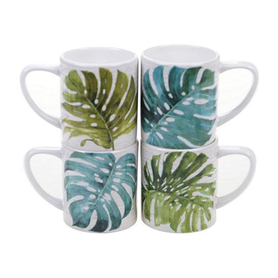 Certified International Palm Leaves 4-pc. Coffee Mug