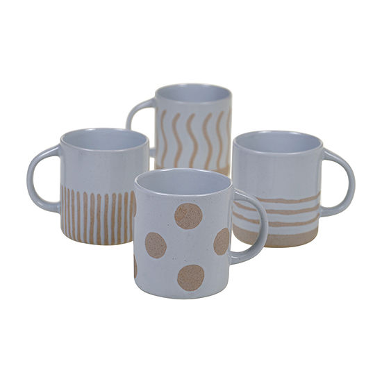 Certified International Graphic Mugs 4-pc. Coffee Mug