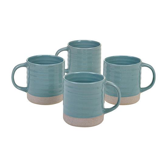 Certified International Artisan Teal 4-pc. Coffee Mug
