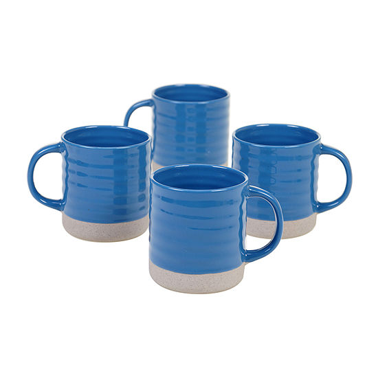 Certified International Artisan Blue 4-pc. Coffee Mug