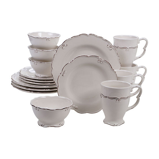 Certified International Vintage Cream 16 Pc Dinnerware Set