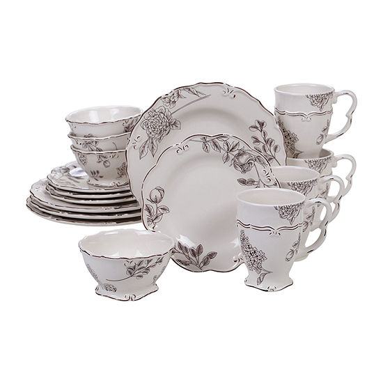 Certified International Vintage Floral 16-pc. Dinnerware Set