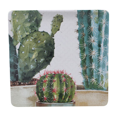 "Certified International Cactus Verde 12.5"" Serving Square Platter"