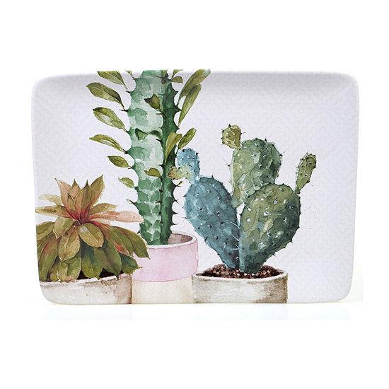 "Certified International Cactus Verde Rectangular 16"" X 12"" Serving Platter"