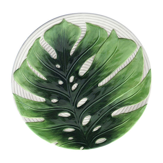 "Certified International Palm Leaves 3-D Embossed Charger Plate, 13"" Serving Platter"