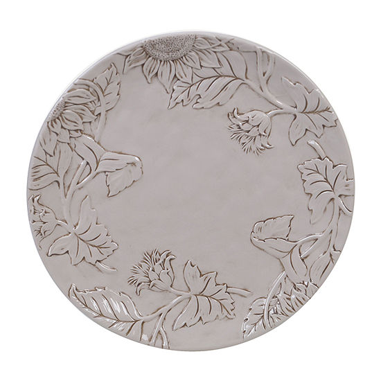 "Certified International Toile Rooster Embossed Round 13"" Serving Platter"