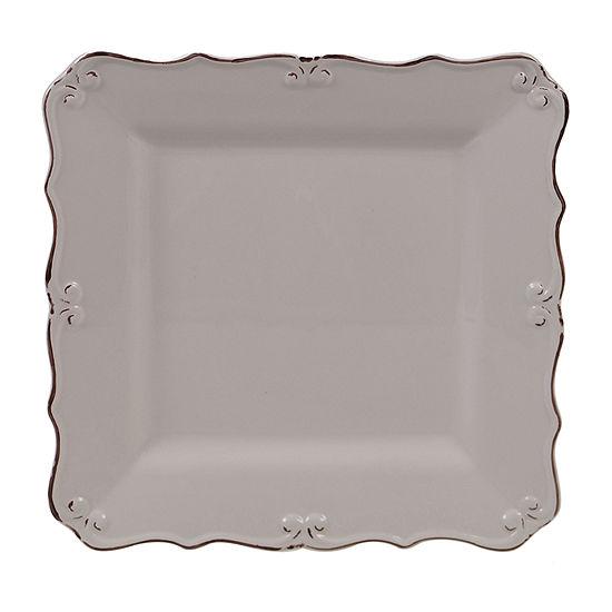 "Certified International Vintage Cream Square 13"" Serving Platter"