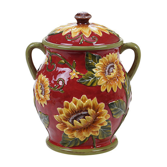 Certified International Sunset Sunflower Cookie Jar