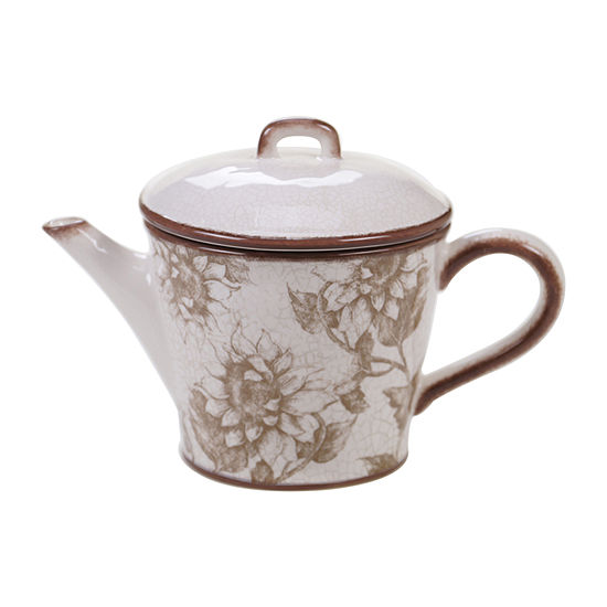 Certified International Toile Rooster Teapot