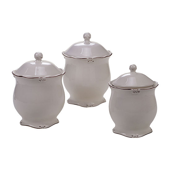 Certified International Vintage Cream 3-pc. Canister