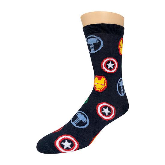 Marvel 1 Pair Avengers Crew Socks-Mens