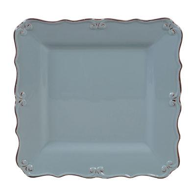 """Certified International Vintage Blue Square 13"""" Serving Platter"""