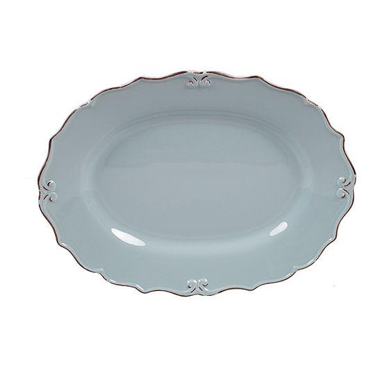 """Certified International Vintage Blue Oval 16"""" X 12"""" Serving Platter"""