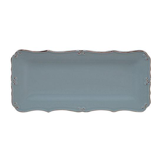 "Certified International Vintage Blue Bread 14"" X 7"" Serving Tray"