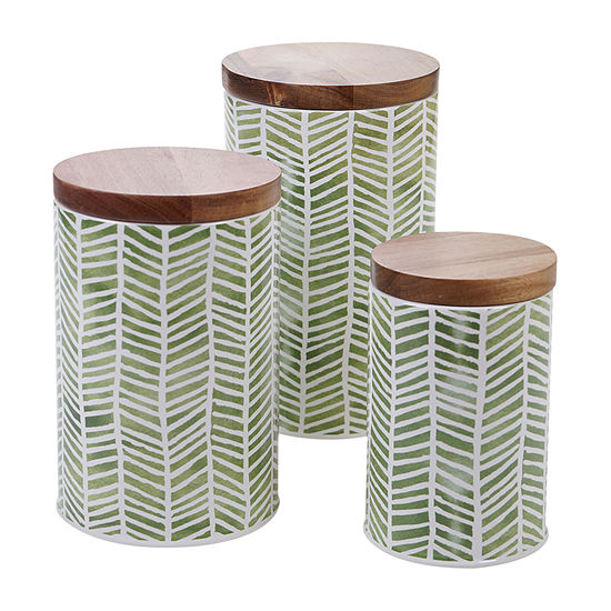 Certified International Mixed Greens 3-pc. Canister