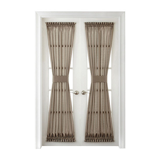 JCPenney Home Plaza Thermal Interlined Rod-Pocket Door Panel Curtain