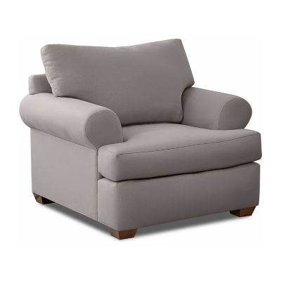 Klaussner Custom Roll-Arm Chair