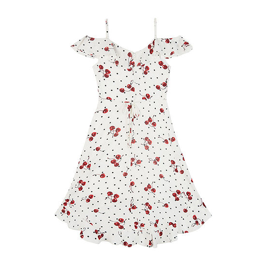 by&by girl Girls Sleeveless Dots A-Line Dress - Big Kid