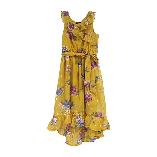 Lilt Little & Big Girls Sleeveless Floral Maxi Dress