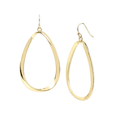 Worthington® Gold-Tone Twist Oval Drop Earrings