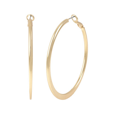 Mixit™ Gold-Tone Satin Hoop Earrings