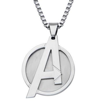 Marvel Avengers Logo Mens Stainless Steel Pendant Necklace