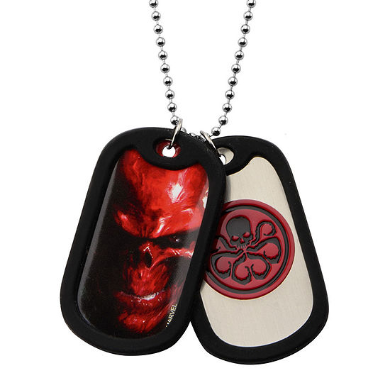 Marvel Hydra Mens Stainless Steel Double Dog Tag Pendant Necklace