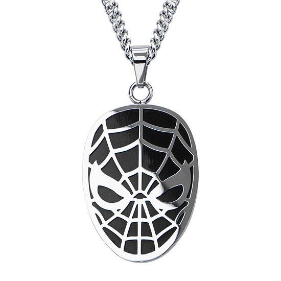 Marvel Spiderman Mens Stainless Steel Pendant Necklace