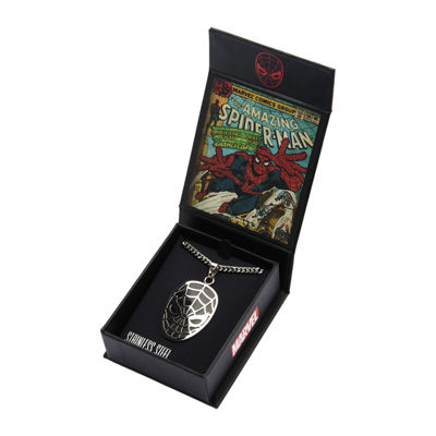 Marvel Spiderman Mens Stainless Steel Pendant Necklace