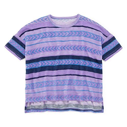 Arizona Striped Knit Tee - Preschool Girls 4-6x