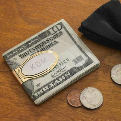 Personalized Stepped Two-Tone Money Clip