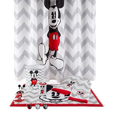Gray Chevron Mickey Shower Curtain Curtain Menzilperde Net