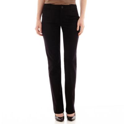 "St. John's Bay® Bi-Stretch Straight Bootcut Pants - Tall Inseam 34"""