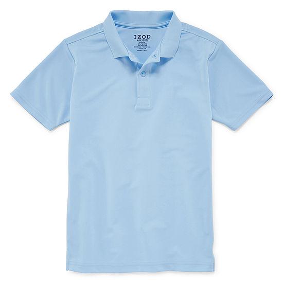 Izod Exclusive Big Boys Short Sleeve Stretch Moisture Wicking Polo Shirt