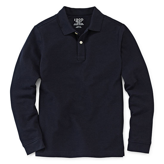 Izod Exclusive Big Boys Long Sleeve Polo Shirt