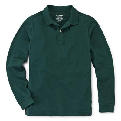IZOD® Long-Sleeve Piqué Polo - Boys 8-20 and Husky