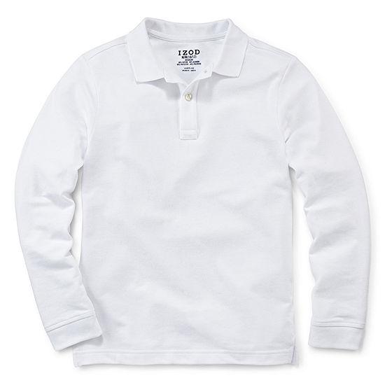 IZOD Big Boys Long Sleeve Polo Shirt