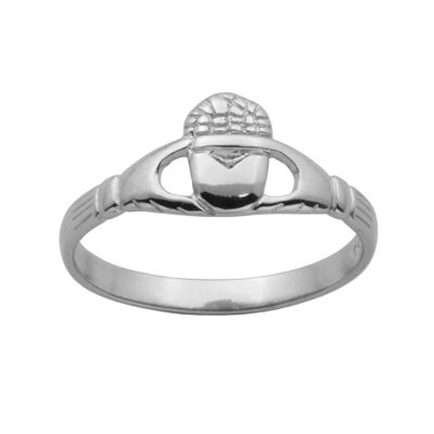 Sterling Silver Claddagh Crown Ring