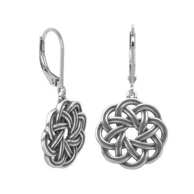 Sterling Silver Celtic Wreath Drop Earrings