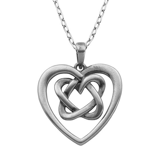 Sterling silver celtic knot heart pendant necklace jcpenney sterling silver celtic knot heart pendant necklace aloadofball