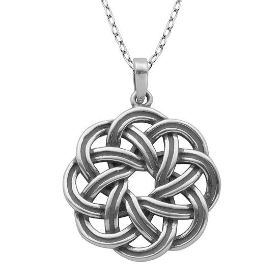Sterling Silver Wreath Pendant Necklace