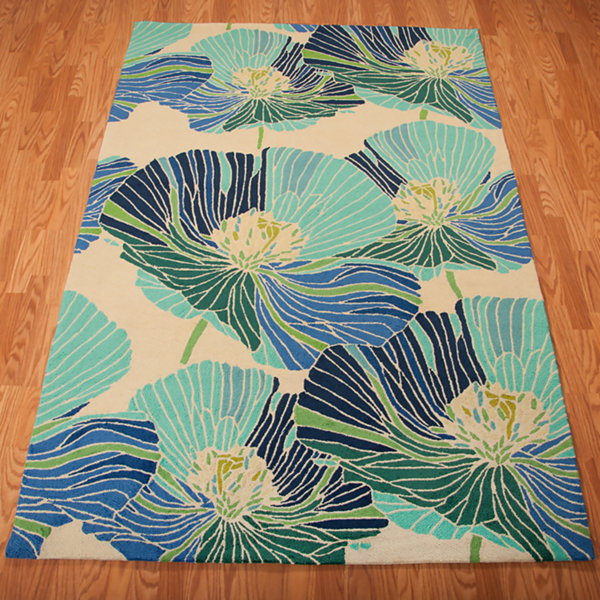 Nourison® Heavenly Hand-Hooked Rectangular Rug